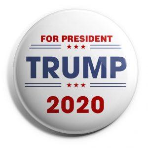 For President White Trump Button