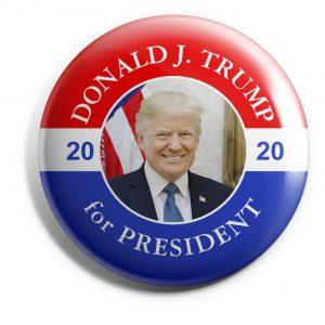 Patriotic Trump Button