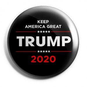 Black and Red Donald Trump Campaign Button