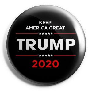 Trump Black and Red Campaign Button (TRUMP-SE-033-RM)