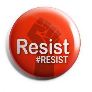 Resist Trump Button Red