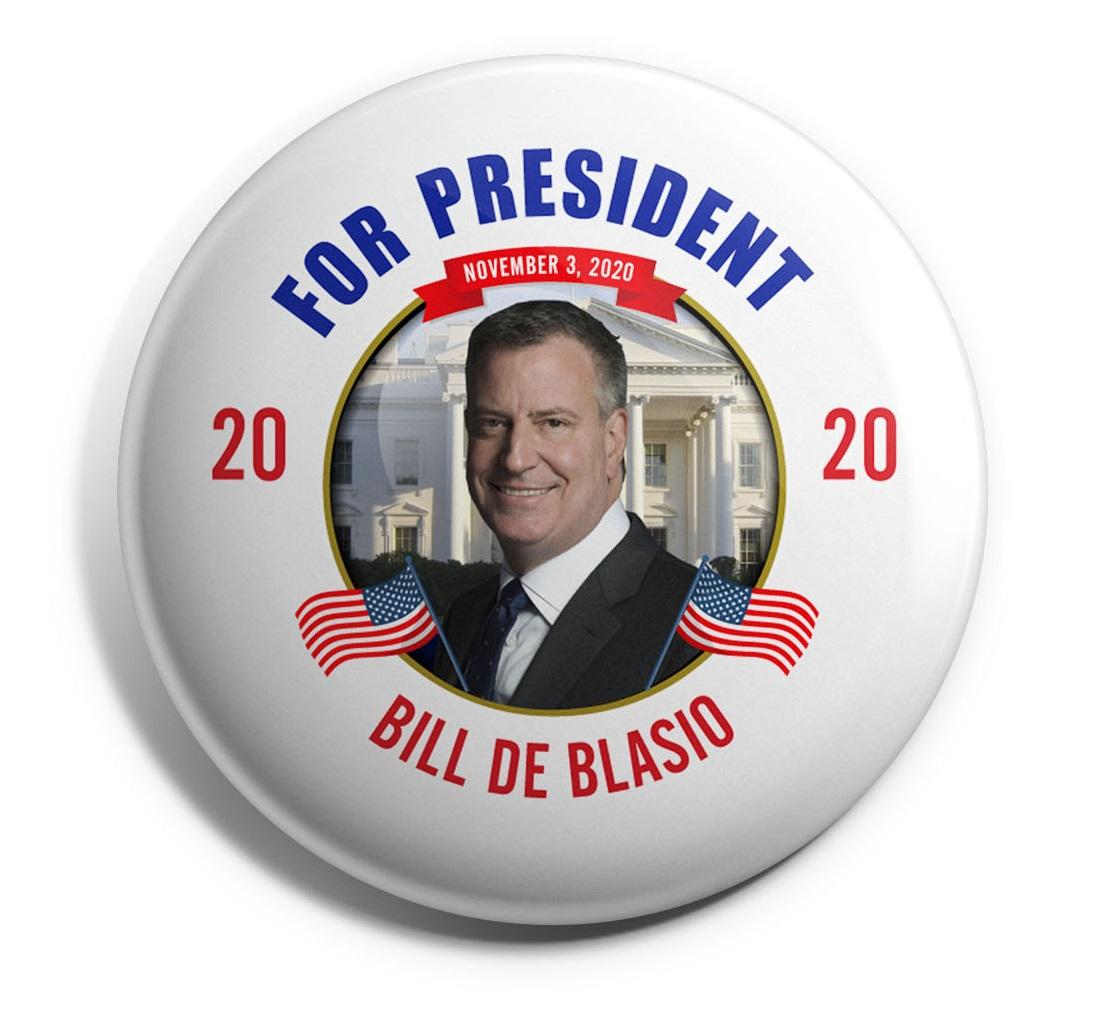 Bill de Blasio Wholesale Buttons