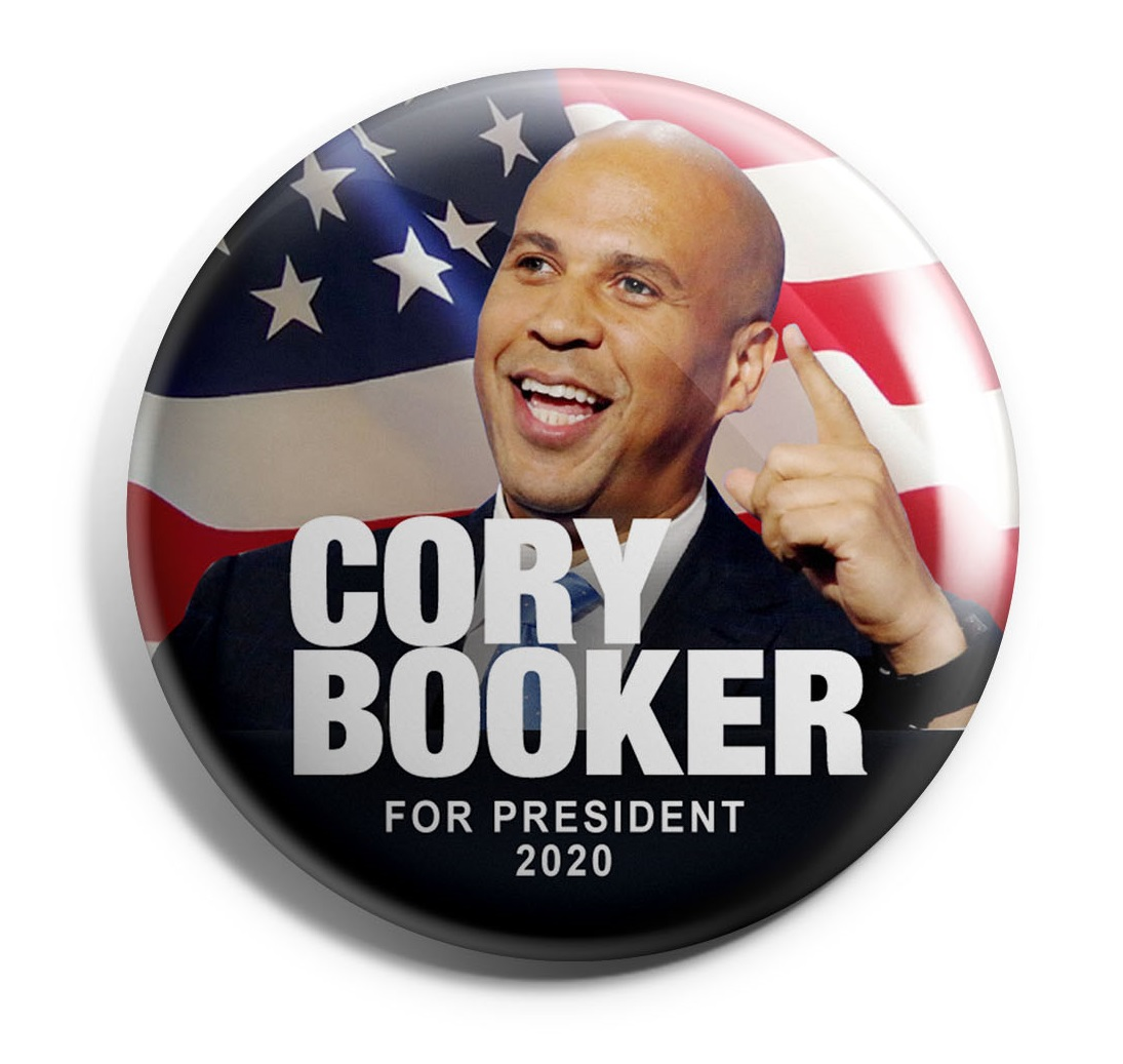 Cory Booker Wholesale Buttons