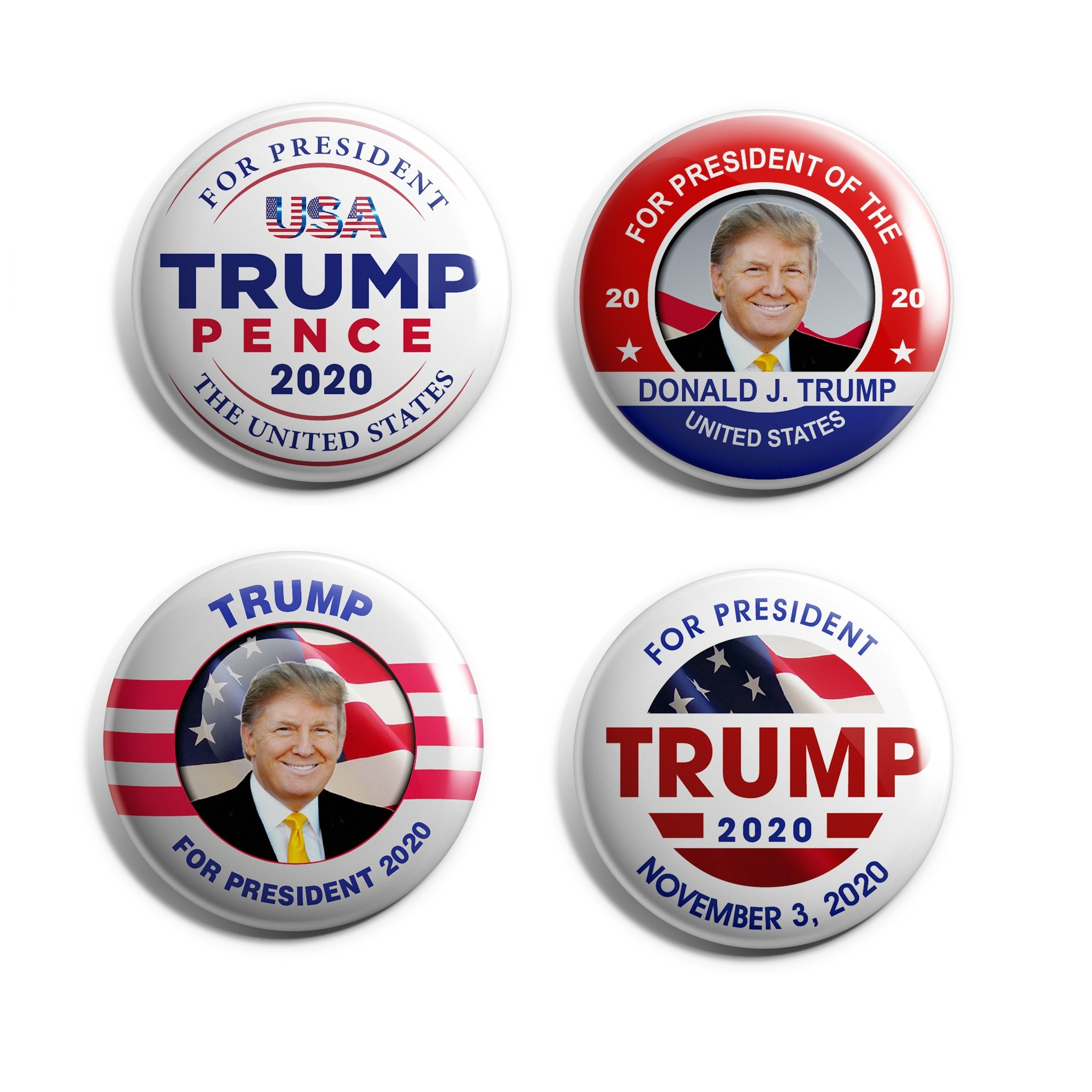 Donald Trump 4-Pack Buttons