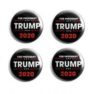 Black and Red Trump 2020 Set of 4 buttons