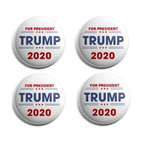 White Trump 2020 Buttons