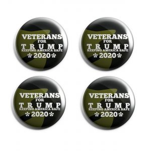 Veterans for Trump Buttons