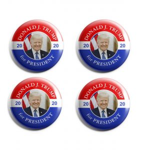 Patriotic Trump Button set of 4