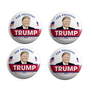Red and White Trump Button