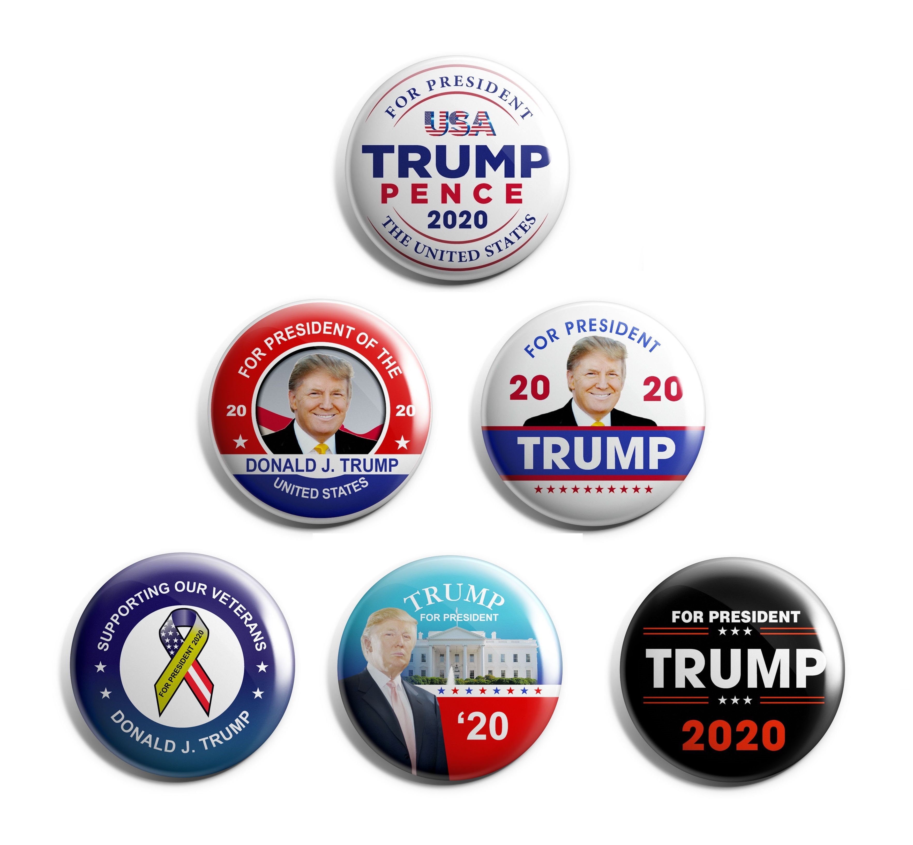 Donald Trump 6-Pack Buttons