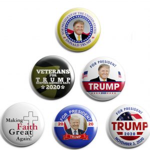 Donald Trump 6-pack Campaign Buttons
