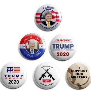Donald Trump Set of 6 Buttons