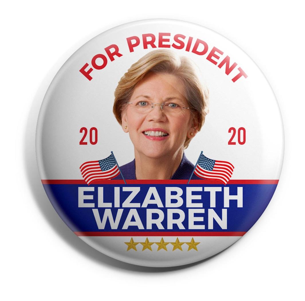 Elizabeth Warren Wholesale Buttons