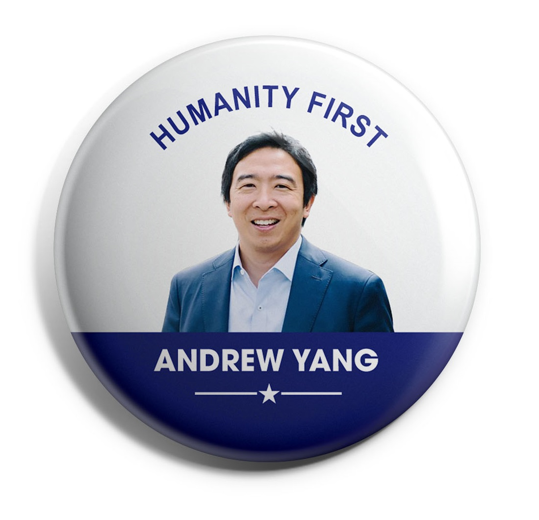Andrew Yang Wholesale Buttons
