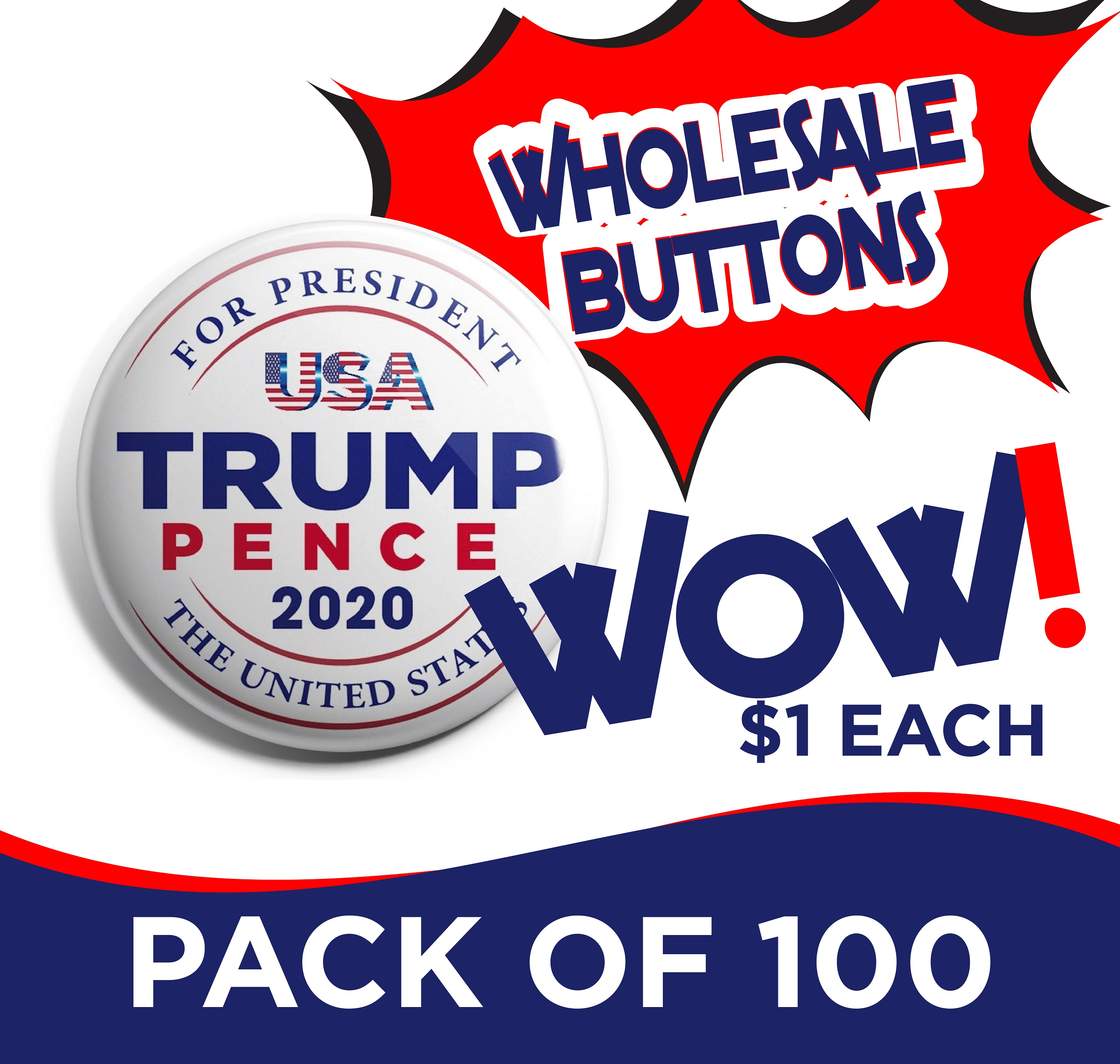 100 Button Rally Packs