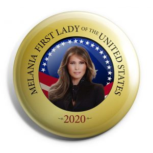 Gold Melania Trump Button