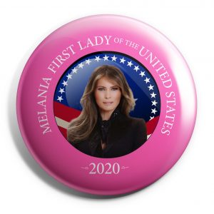 Pink Melania Trump Button
