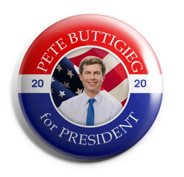 Pete Red, White, and Blue Button
