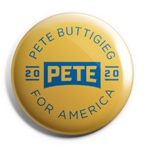 Gold Pete For America Button