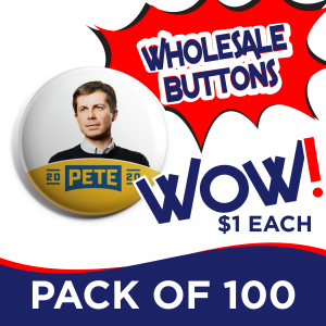 Pete Buttigieg Button Pack of 100