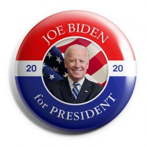Patriotic Joe Biden for President campaign button