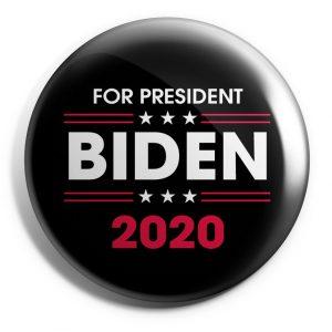 Black For President Biden Button