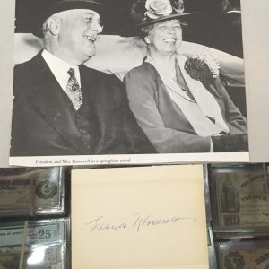 Eleanor Roosevelt Authentic Signature