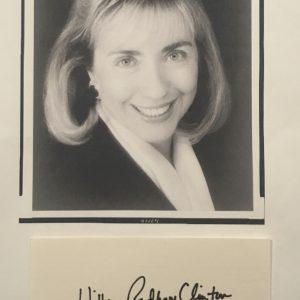 Hillary Clinton Authentic Signature