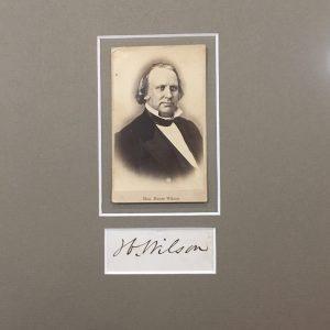 Henry Wilson Authentic Signature