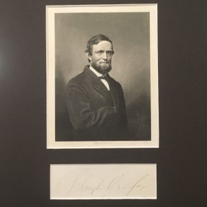 Schuyler Colfax Authentic Signature with Black Background