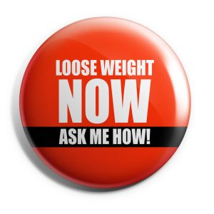 Herbalife Button Lose Weight Now Red