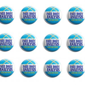 Free Body Analysis Herbalife 12-Pack Buttons (HERB-SE-001-X12)
