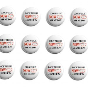 Lose Weight Now Herbalife 12-Pack Buttons (HERB-SE-003-X12)
