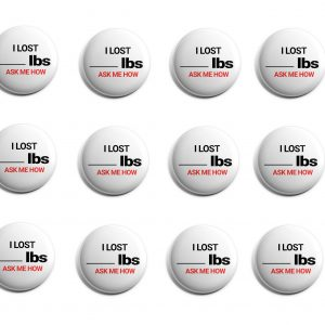 I Lost Pounds Herbalife 12-Pack Buttons (HERB-SE-005-X12)