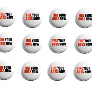 Fire Your Boss Herbalife 12-Pack Buttons (HERB-SE-008-X12)
