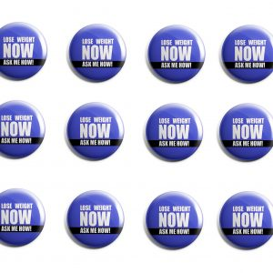 Lose Weight Now (Blue) Herbalife 12-Pack Buttons (HERB-SE-009-X12)