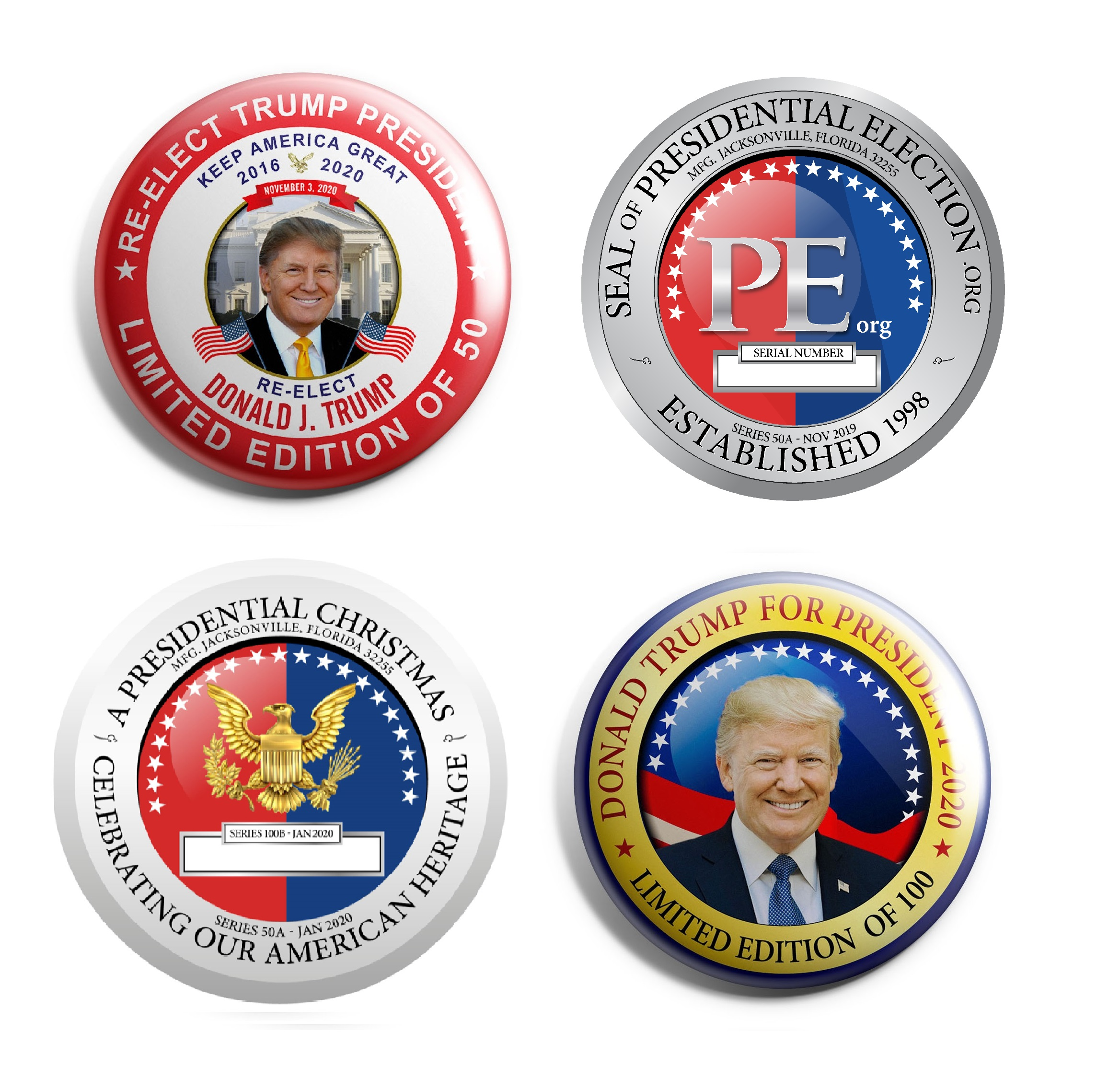 Donald Trump Limited Edition Buttons