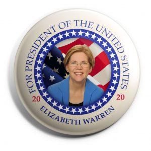 Elizabeth Warren Wholesale Button WARREM-SE-016