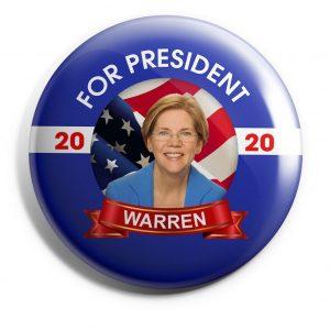 Blue Banner Warren Wholesale Button