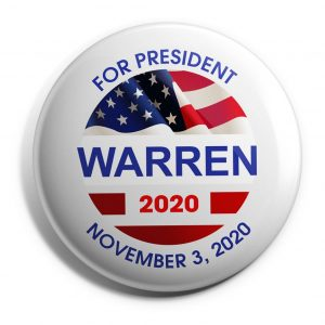 For President Warren 2020 wholesale buttons