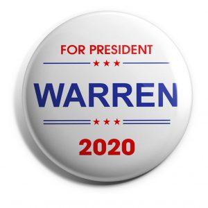 Elizabeth Warren White Wholesale Buttons (WARREN-SE-023)