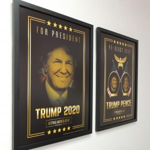 Trump Poster Set Mounted and Framed