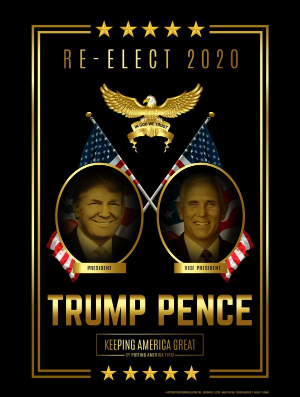 Re-Elect Trump Pence Campaign Poster Set (2020)
