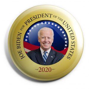 Gold Joe Biden Campaign button