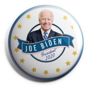 Blue and White Joe Biden Campaign Button