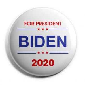 White Biden 2020 Campaign Button