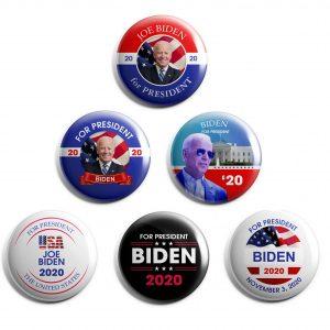 Joe Biden 6-pack of campaign buttons.